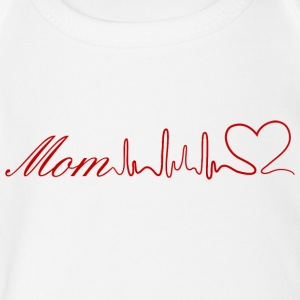 Mom heart - Short Sleeve Baby Bodysuit