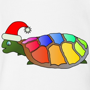 Rainbow Turtle - Short Sleeve Baby Bodysuit