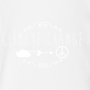 climate change / anti war - Short Sleeve Baby Bodysuit
