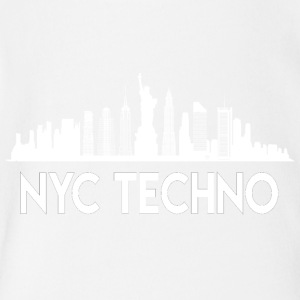 NYC Techno Skyline - Short Sleeve Baby Bodysuit