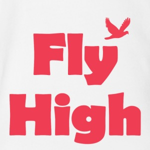 Fly High - Short Sleeve Baby Bodysuit