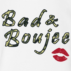 Bad And Boujee Camo Red lipps - Short Sleeve Baby Bodysuit