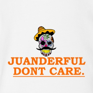 JUANDERFUL DONT CARE COLORFUL MEXICAN SKULL - Short Sleeve Baby Bodysuit
