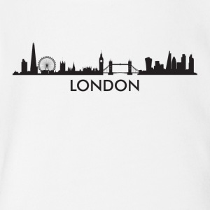 London England Skyline - Short Sleeve Baby Bodysuit