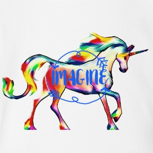 imagine Unicorn - Short Sleeve Baby Bodysuit