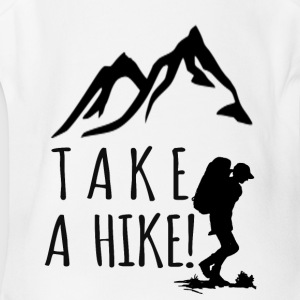 take a hike black - Short Sleeve Baby Bodysuit