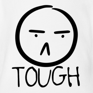 TOUGH FROWN - Short Sleeve Baby Bodysuit