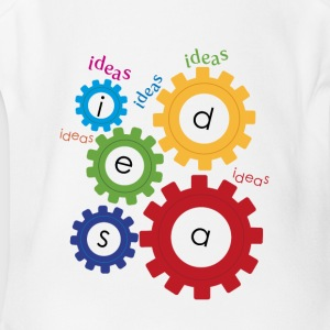 gears of ideas - Short Sleeve Baby Bodysuit