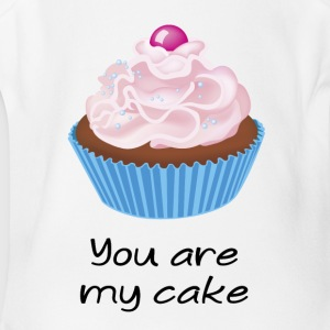 you are my cake - Short Sleeve Baby Bodysuit