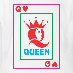 QUEEN playing card - Short Sleeve Baby Bodysuit