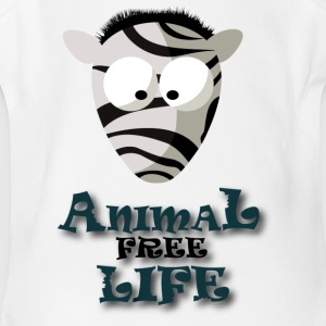 T SHIRT ANIMAL FREE LIFE2 - Short Sleeve Baby Bodysuit