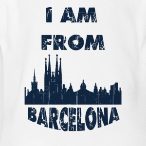 Barcelona I am from - Short Sleeve Baby Bodysuit
