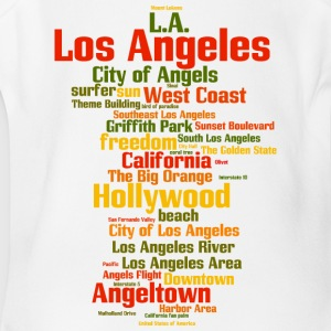 Los Angeles (L.A. Angeltown) - Short Sleeve Baby Bodysuit