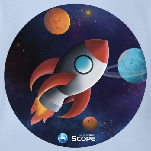 Solar System Scope : Little Space Explorer - Organic Short Sleeve Baby Bodysuit