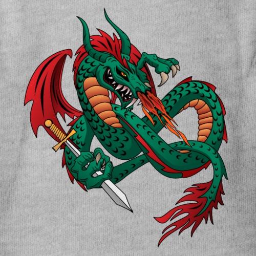 Flying Fire Breathing Dragon - Organic Short Sleeve Baby Bodysuit
