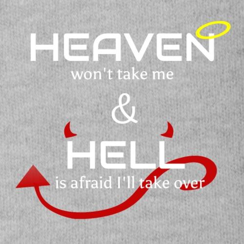 Heaven won't take me Hell is afraid I'll take over - Organic Short Sleeve Baby Bodysuit
