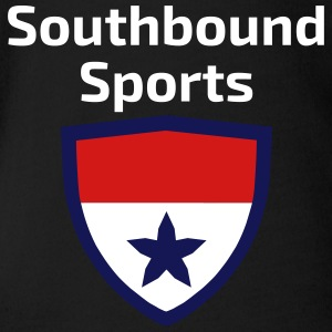 The Southbound Sports Shield Logo. - Short Sleeve Baby Bodysuit