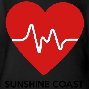 Heart Sunshine Coast - Short Sleeve Baby Bodysuit
