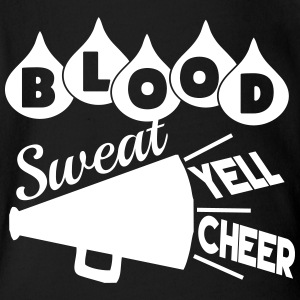Blood Sweat Yell Cheer - Short Sleeve Baby Bodysuit