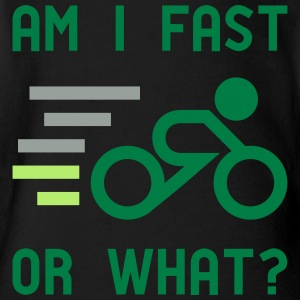 Am I fast, or what? - active wear for cycling - Short Sleeve Baby Bodysuit