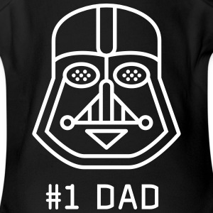 dad Father vader fatherday number One best Great f - Short Sleeve Baby Bodysuit