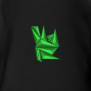 Green Neo Shards - Short Sleeve Baby Bodysuit