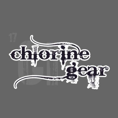 Chlorine Gear Textual B W - Organic Short Sleeve Baby Bodysuit