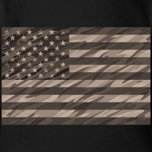 desert cammo flag t - Organic Short Sleeve Baby Bodysuit