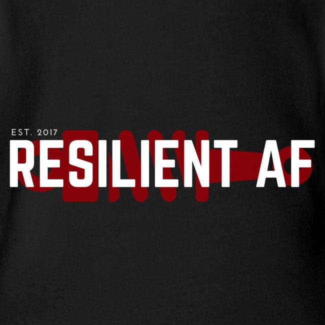 RESILIENT WHITE with red