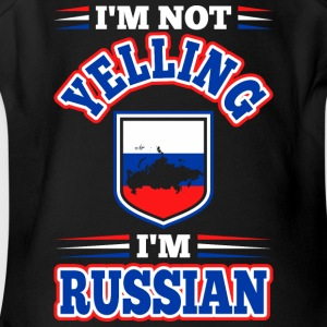 Im Not Yelling Im Russian - Short Sleeve Baby Bodysuit