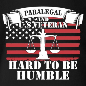 Paralegal And US Veteran Shirt - Short Sleeve Baby Bodysuit