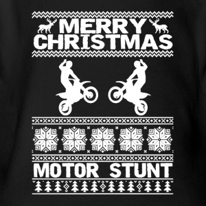 Merry Christmas Motor Stunt Shirt - Short Sleeve Baby Bodysuit