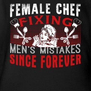 Female Chef Shirt - Short Sleeve Baby Bodysuit