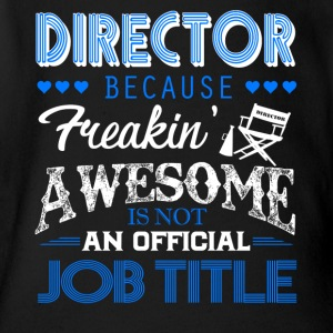 Director Job Title Shirt - Short Sleeve Baby Bodysuit