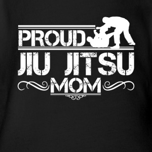 Proud Jiu Jitsu Mom Shirt - Short Sleeve Baby Bodysuit