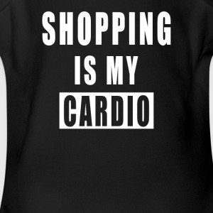 Shopping Is My Cardio - Short Sleeve Baby Bodysuit
