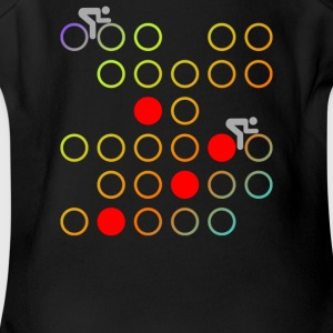 Retro cycling - Short Sleeve Baby Bodysuit