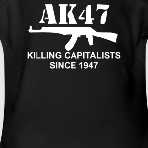 AK47 funny political weapons cool retro rude - Short Sleeve Baby Bodysuit