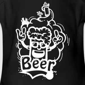 Beer Graffiti - Short Sleeve Baby Bodysuit