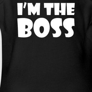 I'M BOSS - Short Sleeve Baby Bodysuit