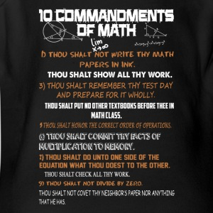 10 Commandments Of Math Shirt - Short Sleeve Baby Bodysuit