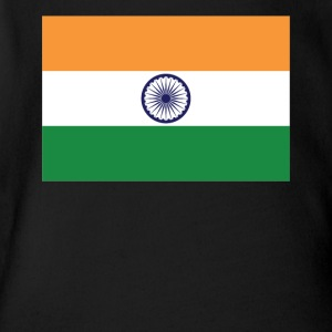 Flag of India Cool Indian Flag - Short Sleeve Baby Bodysuit