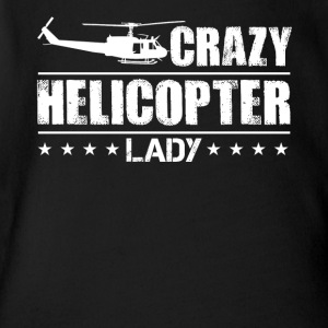 Crazy Helicopter Lady Shirt - Short Sleeve Baby Bodysuit