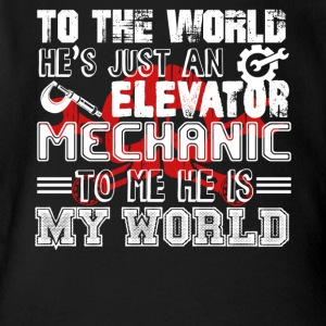 Elevator Mechanic Shirt - Short Sleeve Baby Bodysuit