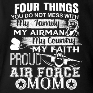 Air Force Mom T shirt - Short Sleeve Baby Bodysuit
