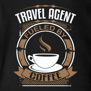 Travel Agent Fueled By Coffee - Short Sleeve Baby Bodysuit