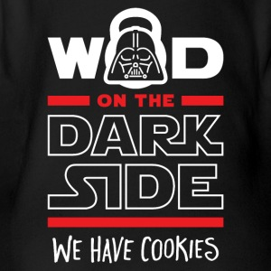 WOD On The Dark Side We Have Cookies - Short Sleeve Baby Bodysuit