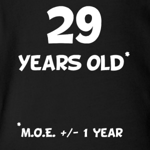 29 Plus Or Minus 1 Year Funny 30th Birthday - Short Sleeve Baby Bodysuit