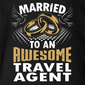 Married To An Awesome Travel Agent - Short Sleeve Baby Bodysuit