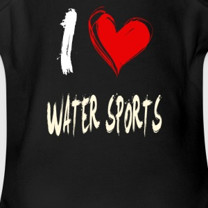 I love WATER_SPORTS - Short Sleeve Baby Bodysuit